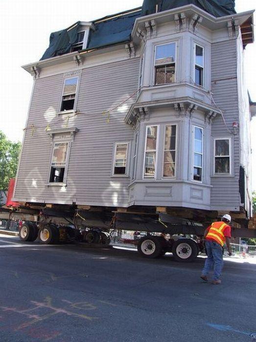 Как перевезти дом (26 фото)