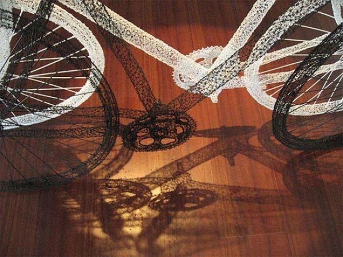 3Д-скульптуры из проволоки (15 фото)