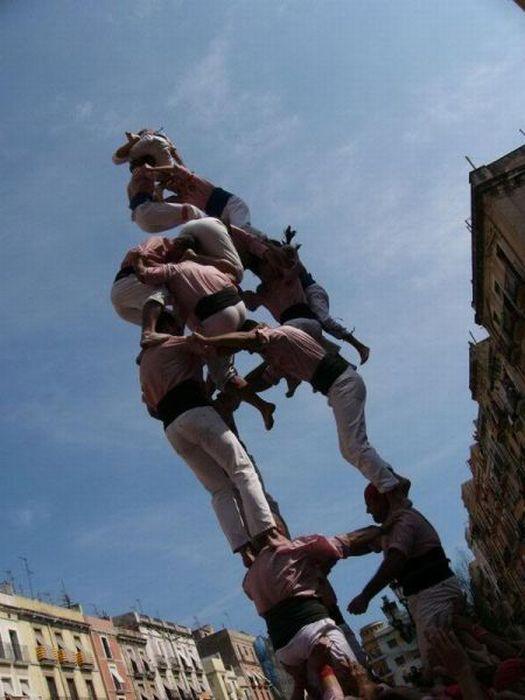 Падающие живые башни (28 фото)