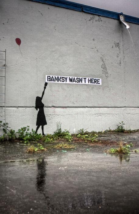 Рисунки Бэнкси (106 фото)