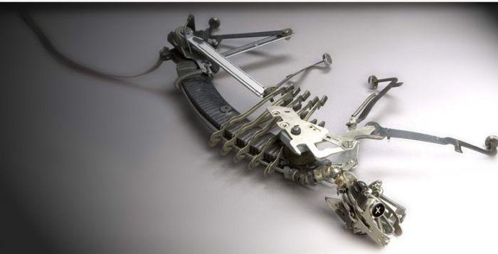 Потрясающие скульптуры из печатных машинок (34 фото)
