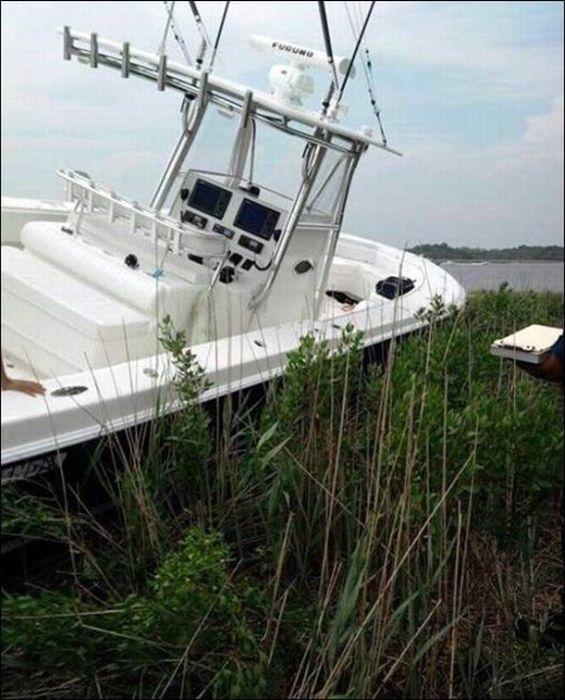 Моторная лодка вместо газонокосилки (5 фото)