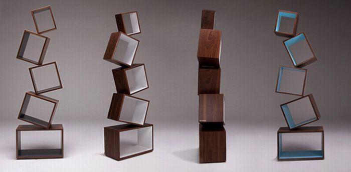 Необычные полки для книг (8 фото)