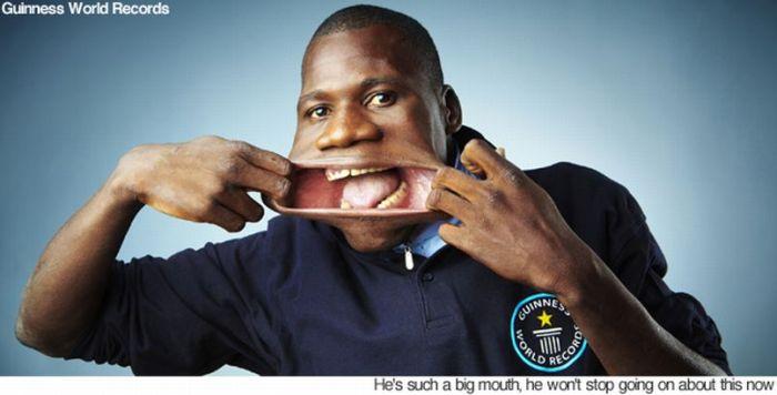 Самый широкий рот в мире (4 фото + видео)