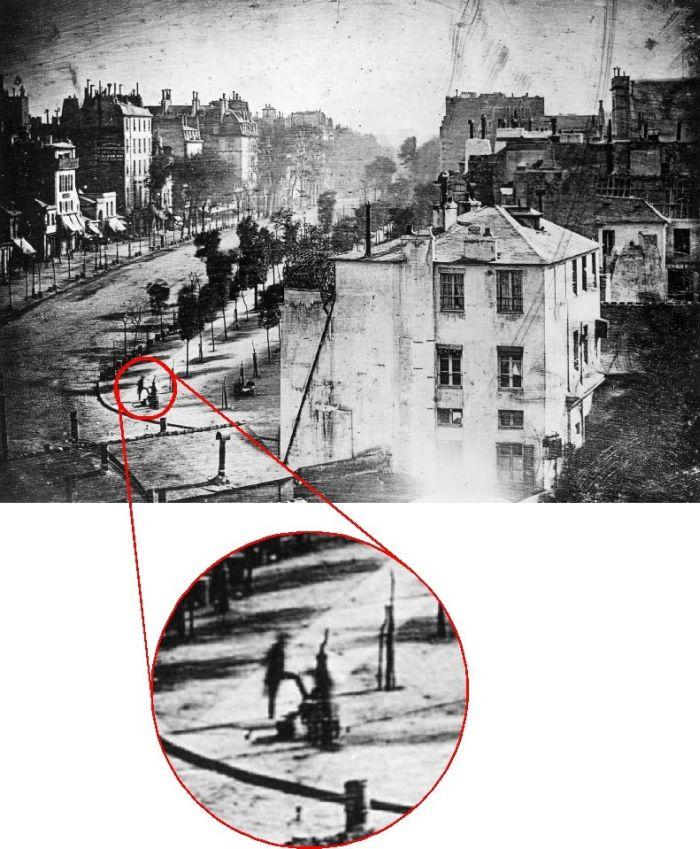 Первая в истории фотография человека (2 фото)