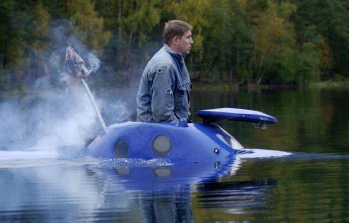 Единственная в России личная подводная лодка (29 фото)