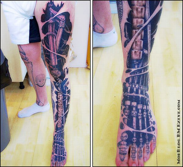 Киберпанковские татуировки (20 фото)