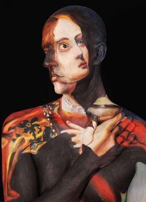Картины на телах (8 фото)