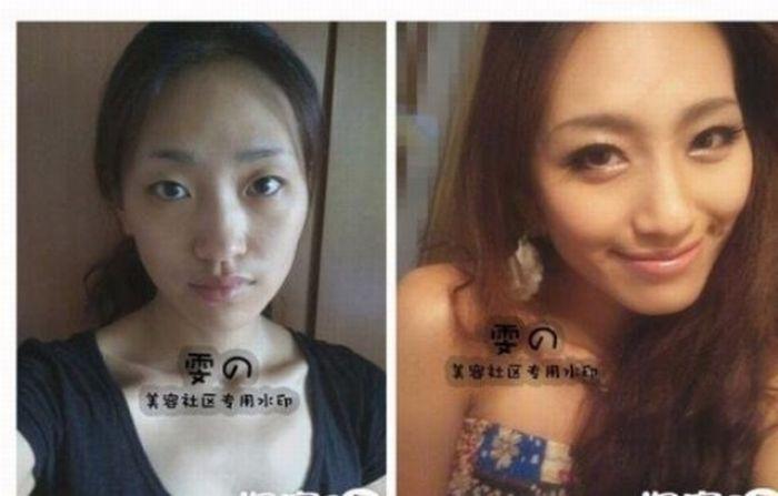 Азиатки до и после макияжа (73 фото) flashigr.net - все самые лучшие...