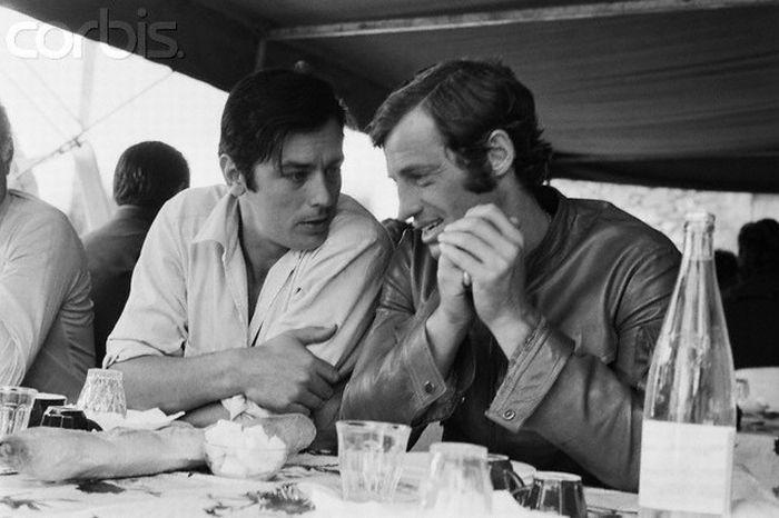 Два великих французских актера - Ален Делон и Жан-Поль Бельмондо (22 фото)