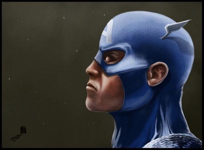 Портреты героев комиксов Marvel (15 фото)