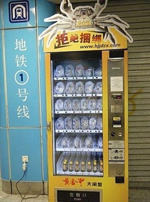 Крабовый автомат в Китае (9 фото)