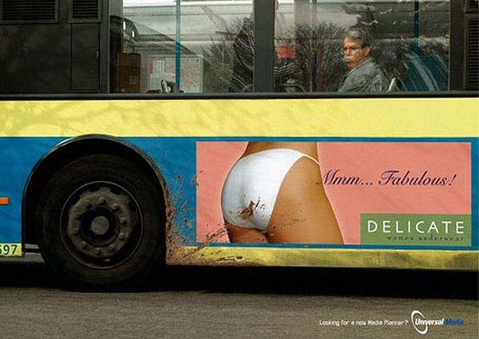 Креативная реклама на автобусах (30 фото)