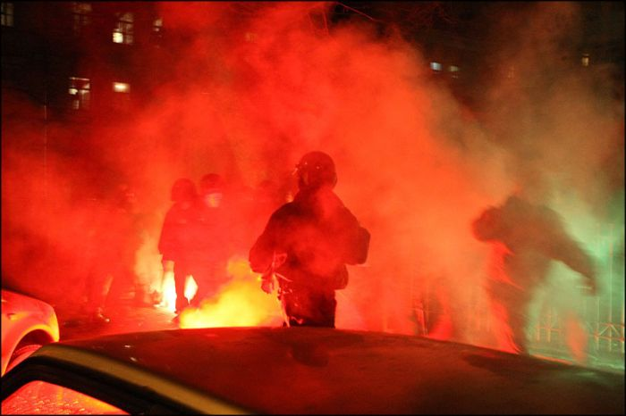 Как фанаты Зенита победу праздновали (16 фото)