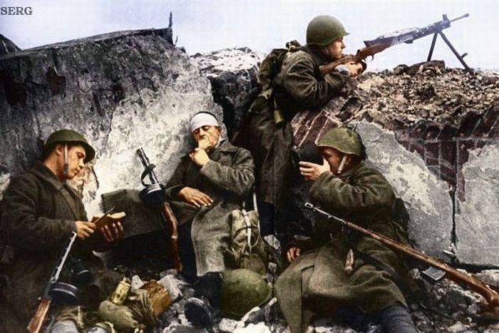 Вторая Мировая война в цвете (77 фото)