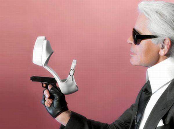 Туфли с оружием (20 фото)