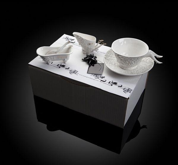 Чайный сервиз с ножками (9 фото)