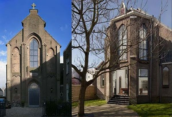 Дом из церкви (15 фото)