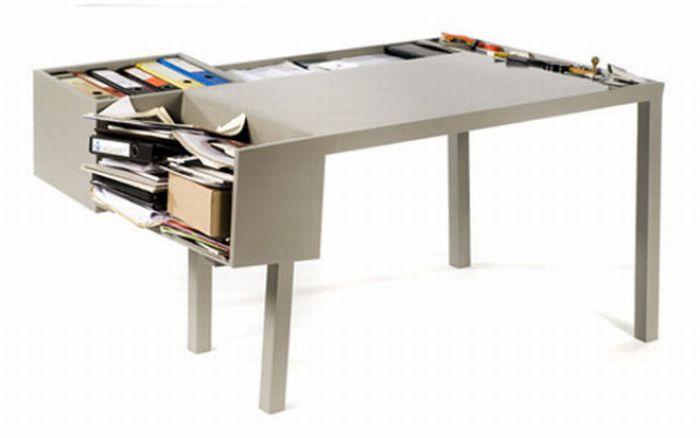 Креативные письменные и компьютерные столы (89 фото)