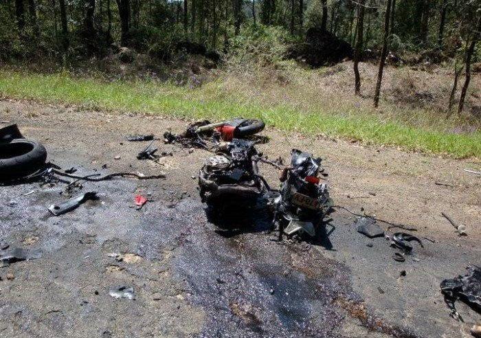 Ужасная авария Kawasaki ZX-14 (12 фото)