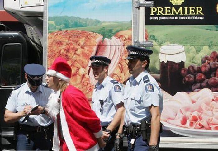 Арестованные Санта Клаусы (14 фото)