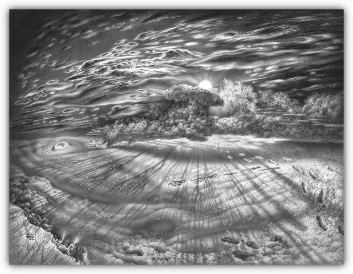 Потрясающие зимние рисунки (58 фото)