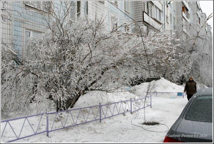 Обледеневшая Москва (55 фото)