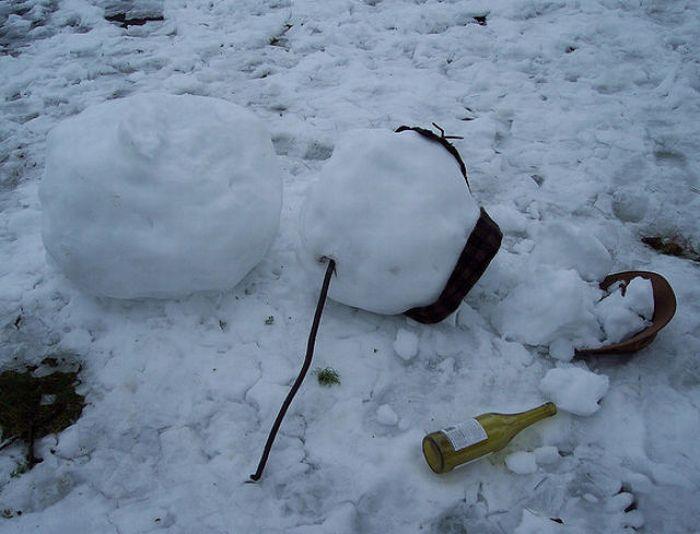 Пьяные снеговики (30 фото)