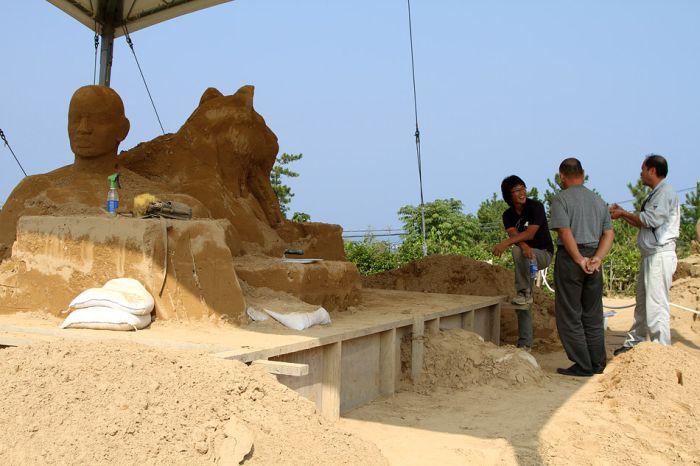 Японский музей скульптур из песка (21 фото)