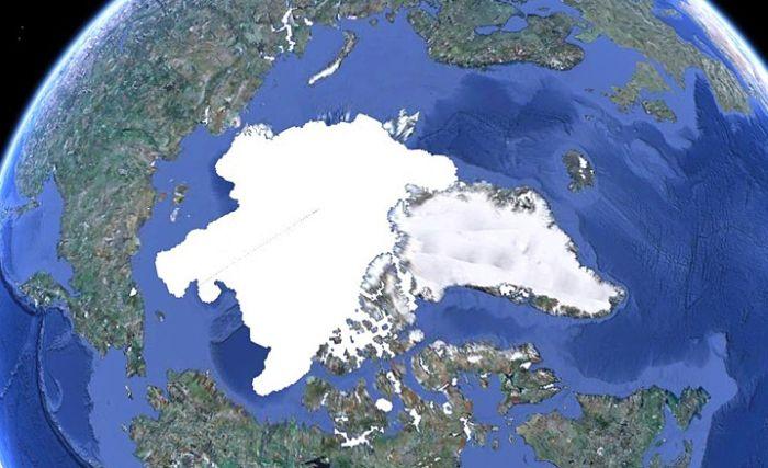 Северный полюс 2000-2010 (3 фото)