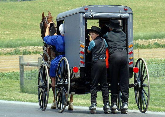 Амиши и роликовые коньки (32 фото)