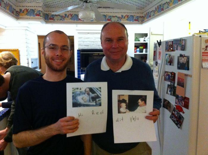 Сын и отец, тогда и сейчас (5 фото)