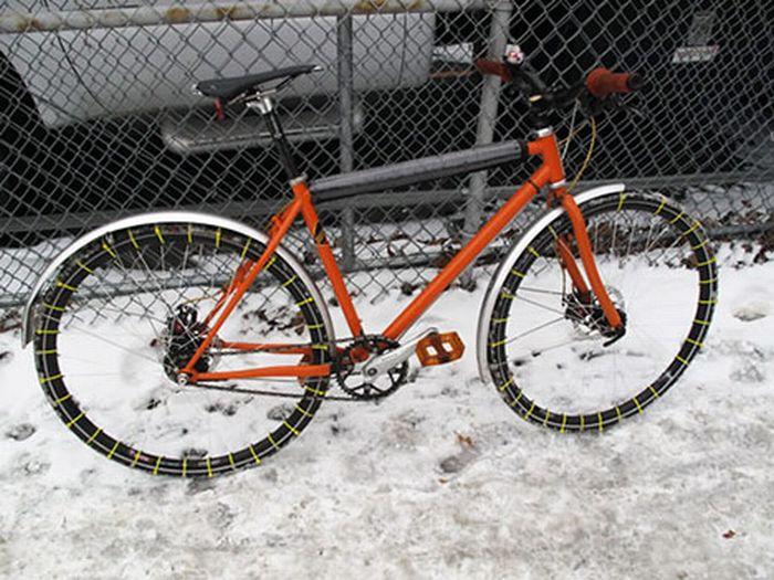 Зимняя резина для велосипеда (4 фото)