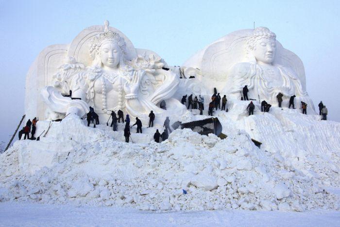 Международный фестиваль льда в Харбине (30 фото)