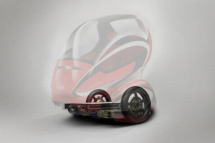 Мини автомобиль EN-V (10 фото)
