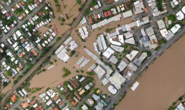 Брисбен до и после наводнения (40 фото)