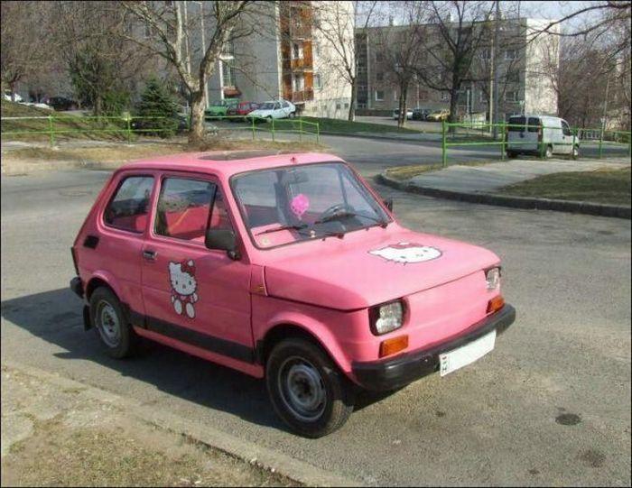 Смешные автомобили (43 фото)