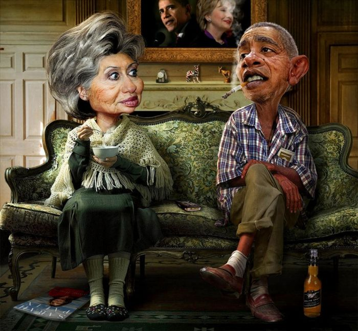 Карикатуры на Обаму (13 фото)