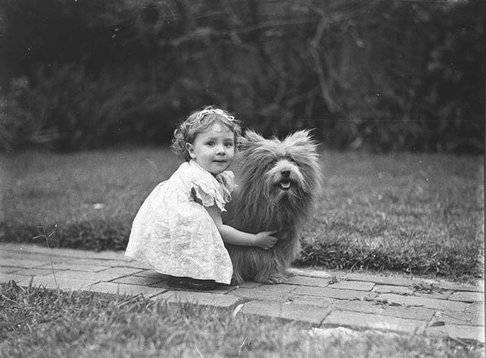 Ретро-фотографии. Люди и их собаки (21 фото)