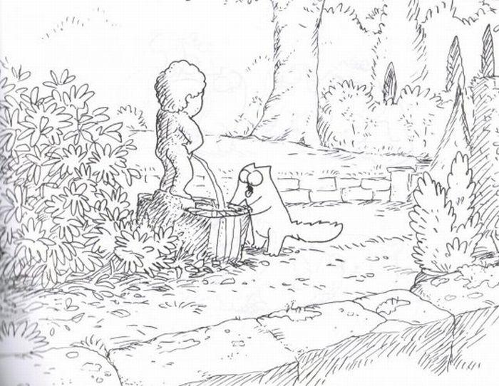 Книга Кот Саймона сам по себе (58 картинок)