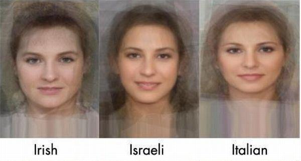 Среднестатистические женские лица (12 фото)