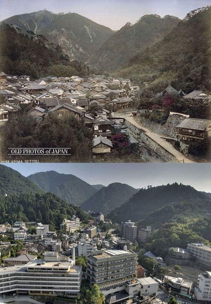 Япония тогда и сейчас (12 фото)