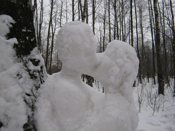 Влюбленные снеговики (6 фото)