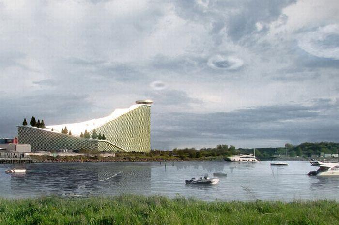 Мусоросжигательный завод в Копенгагене (10 фото)