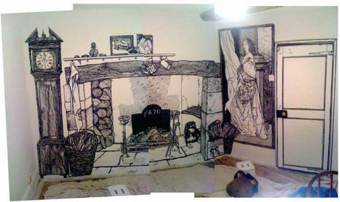 Белая стена и черный маркер (11 фото) в Фотоприколы на Развлекательный блог OTVALI.RU.