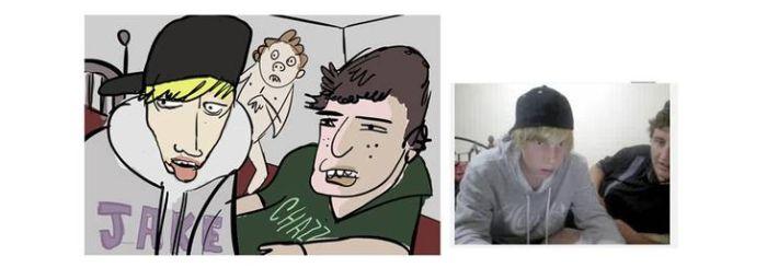 Карикатуры в прямом эфире (34 фото)