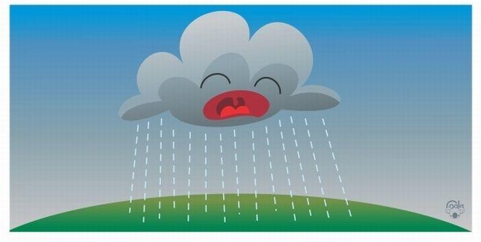 Откуда берется дождь (5 картинок)