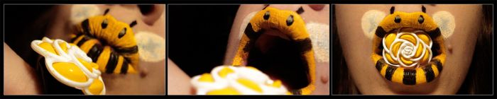 Классные рисунки на губах (23 фото)