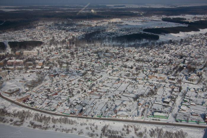 Зима с высоты птичьего полета (83 фото)