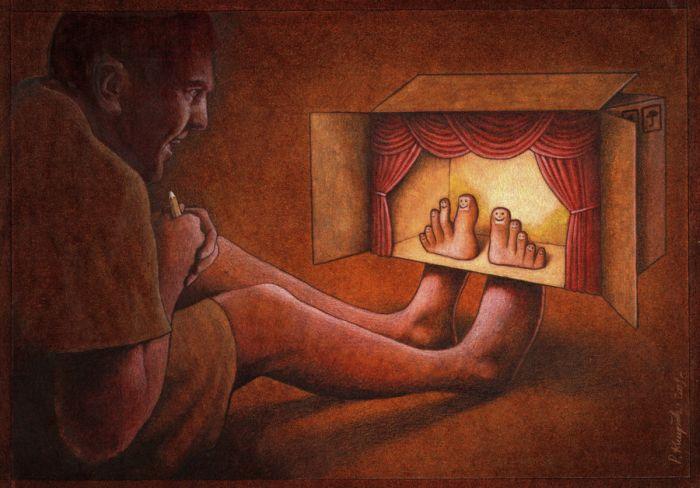 Сатирические рисунки одного польского художника (88 фото)